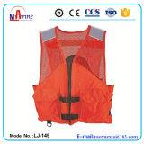 Orange Color Mesh Fishing Life Vest with 2 Big Pockets