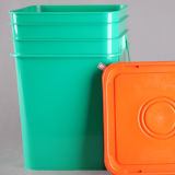 Colorful PP Food Grade Square Plastic Bucket 20L