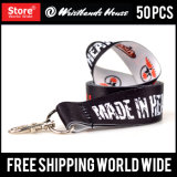 Custom Full Color Printed Lanyard Silicone Bracelet