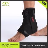 Basketball Training Around Elastic Ankle Support