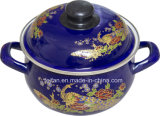 Colorful Decor Casserole with Belly Shape, Dark Color