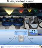 Music Water Pool Fountain and Floating Aerobic Fountain