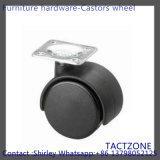 Good Quality Furniture Hardware Automatic Black Nylon Wheel Castors