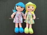 Plush Girl Doll with Cute Dresses