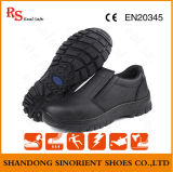 Oil and Water Resistant Leather Safety Kitchen Working Shoes No Lace (RS5853)