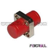 FC Square Type Fiber Optic Adapter Metal Simplex