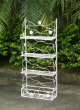 2013 Newest Very Nice Handmade Vintage Fashion Decorative Classical Antirust Metal Garden Wrought Iron Pation 3-Tier Flower Shelf
