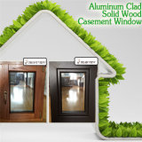 Maintenance-Free Perfect Wood Effect Casement Window, High Quality Teak Wood Clad Aluminum Casement Window