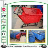 Supermarket Shopping Trolley Plastic Shopping Cart