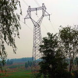 220kv Double Circuit Angle Power Transmission Steel Tower