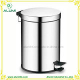 Hotel Room Stainless Steel 5L Pedal Bin with Plastic Inner Liner