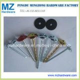Colorful Umbrella Head Twisted Shank Roofing Nail