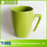 Square 500ml White Ceramic Water Cup
