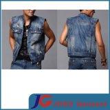 2015 Summer Sleeveless Fashion Body Shape Boys Jeans Vest (JC7039)