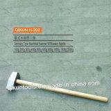 H-202 Construction Hardware Hand Tools Hardwood Handle German Type Machinist′s Hammer