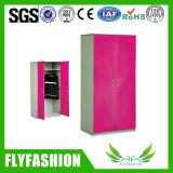 Bedroom Wardrobe Double Door Steel Locker Cabinet (SF-93C)