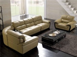 Beige Modern Leather Sectional Sofa