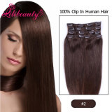 European Straight Human Remy Hair Clip in Extensions