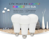 New Design 16 Million APP Control and Remote Controlled12W RGB+CCT LED Light Bulb