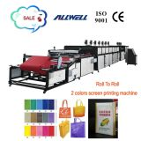 Auto 2 Colors Roll to Roll Non Woven Screen Printing Machine