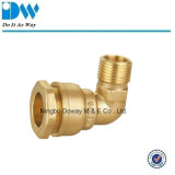 Brass Compression Fitting for PE Pipe Male Elbow