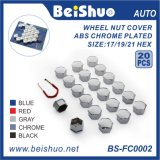 Universal Wheel Lug Nut Bolt Cover Caps with Removal Tools