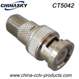 CCTV BNC Male to F Female Connector (CT5042)