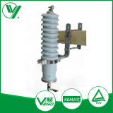 Electric Power Line Material Metal Oxide Silicone Surge Arrester 33kv