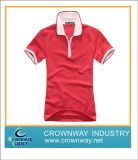 High Quality Polo Shirt with Striped Collar & Cuff & Placket (CW-WSPS-20)