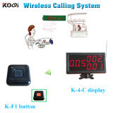 Competitive Price K-4-C Display Calling Pager Button 100% Waterproof Transmitter K-F1 Pager Calling System