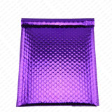 Purple Metallic Bubble Mailer with Metallic Film and PE Bubble Lining