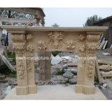 Hot Sale Luxury Marble Fireplace Carved Flowers (SY-MF218)