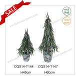 H45-80cm Plastic Table Pot Flower Artificial Plant Christmas Tree