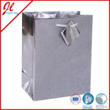 Silver Glister Quality Paper Bags Hologram Gift Bags Foil Gift Bags with Hanging Tag
