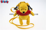 """7.3""""Stuffed Winner The Pooh Bear Mobile Phone Bag with Red T -Shirt Bos1098"""