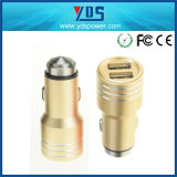 3.1A Metal Case Dual USB Car Charger with Same Color