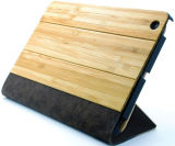Whosale Luxury Bamboo Leather Cases for iPad