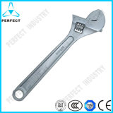 Metric Chrome Vanadium Steel Satin Chrome Plated Adjustable Wrench