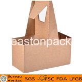 Disposable Take Away Portable 2-Cup Kraft Paper Coffee Cup Holder