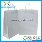 Eco-Friendly Wholesale White Kraft Paper Bags for Cosmetics