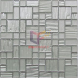 Silver Color Wave Pattern Glass Mosaic (CFC632)