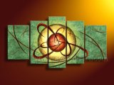 Handmade 5 Panel Abstract Art Painting for Wall Decoration (XD5-077)