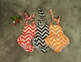 Corolful Cotton Chevron Baby Bubble Romper