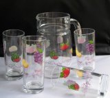 6 PCS 10oz Drinking Glass with 1.5L Pitcher