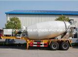 3 Axles Concrete / Cement Mixer Semi Trailer / Tanker Trailers