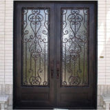 Square Top Iron Double Door (UID-D060)