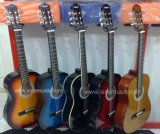 Wholesale Price Colour Plywood Lindenwood Body Classical Guitar