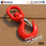Rigging Red Painted Swivel Chain Hooks