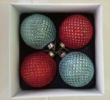 Handmade Glitter Glass Ball Christmas Decoration
