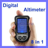 Digital LCD Compass Altimeter Barometer Thermometer 8 In1